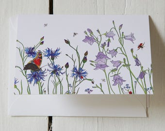 Blue Summer Greeting Card #GC17BS