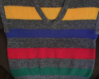 1980's knit sweater vest