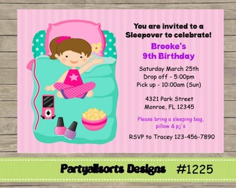 Diy peppa pig and georgejointchildrens party invitations diy sleepoverslumber party invitations cards solutioingenieria Gallery