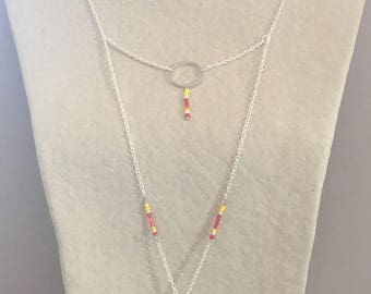 Yellow and orange colors fancy necklace