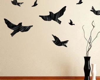 Flying Bird Vinyl Wall Decal Murals Birds Wall Designs Reusable Bird Decal Bird Wall Graphics Bird Wallpaper Removable Bird Sitckers, d05