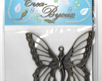 Craft Embellishments. Steampunk type Butterfly- one in pack-Crea-Byoux
