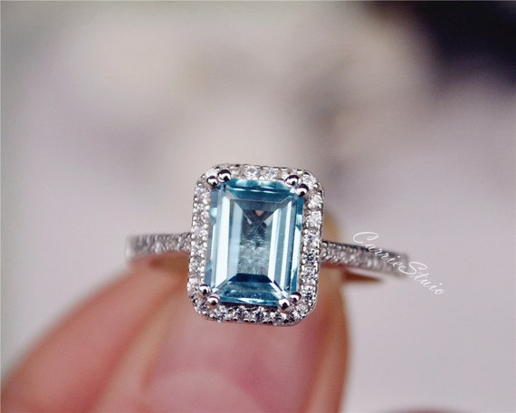 topaz ring rings white engagement unusual blue gold sky
