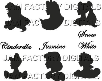 Disney Princess Jasmine Digital Silhouettes .jpg .gif
