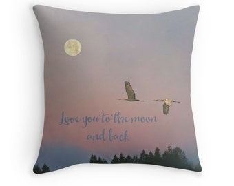 Love Gift, Love You to the Moon, Mothers Day Gift, Love Decor, Gift for Wife, Romantic Gifts, Gift for Couple,Crane,Gift for Women,Full Moon