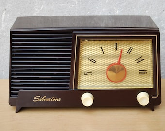 Sears Silvertone Radio Brown Bakelite 1954