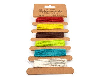 1.5 mm 6 different color jute Twine