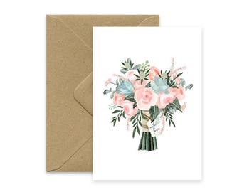 Bouquet card - With Love