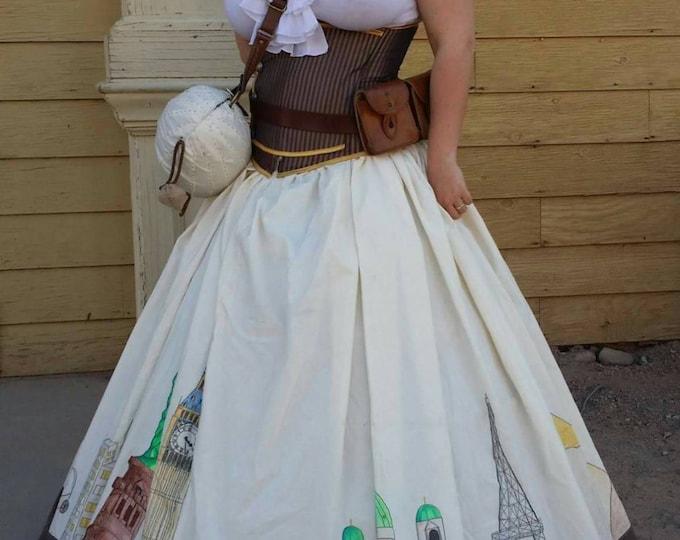 Custom Made Hoop Skirt in Your Size! Includes Simple Steel Hoop Crinoline and Peticoat