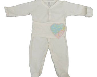 Girls Medical and G-Tube Accessible Long One-Piece for Preemies, Baby and Toddlers/Special Needs Clothing