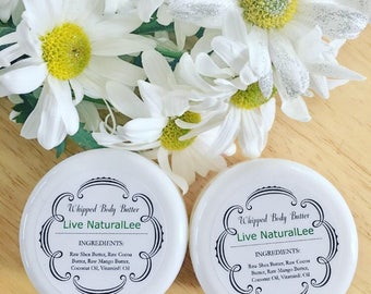 All natural whipped body butter