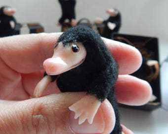Fantastic Beasts miniature Niffler in a matchbox suitcase