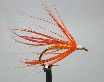 Fly Fishing lure, Fly Tying, Hand Tied Wet Fly, Fishing Gifts, Fishing Lure, Gifts for Him, Mens Gifts, Fly Tying Materials, Mallard Feather