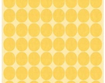 Fabric, silk, yellow dots, waves, Chorus
