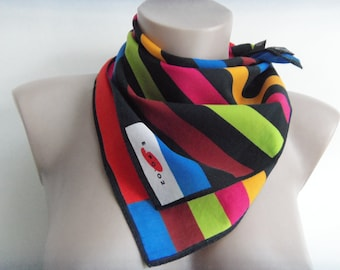 Vintage CHRISTIAN FISCHBAHER cotton stripe neck scarf EXPO