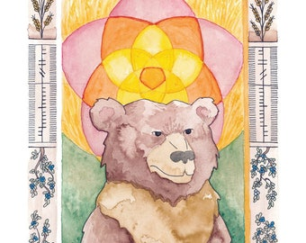 Lughnassadh Bear Print