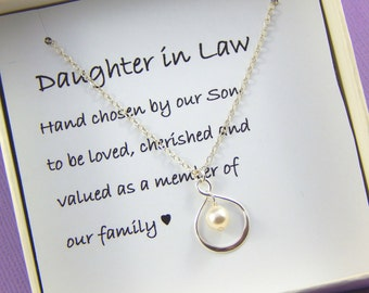 Daughter In Law Gift, Daughter In Law Necklace,Daughter In Law Wedding Gift, Daughter In Law Jewelry, Daughter Gift, Hand Chosen By Our Son