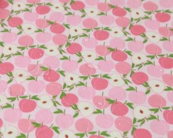 sweet peach - fruit DTP pattern / 30s Cotton fabric
