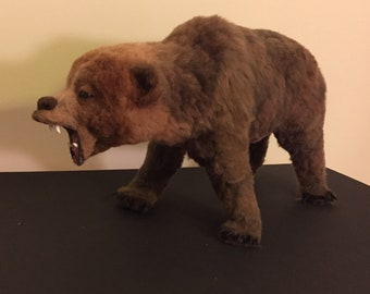 Needle felted Grizzly bear