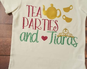 Baby Girl Clothes, Toddler Outfits, Tea Parties and Tiaras Shirt, Infant Tops