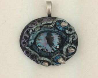 Blue purple dragon eye