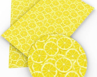 Lemon Faux Leather Sheet