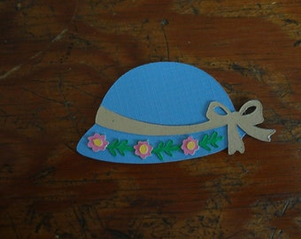 Scrapbooking ~ Blue hat with flower