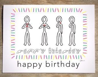 Greetings gesture etsy asl birthday gesture card 34l m4hsunfo