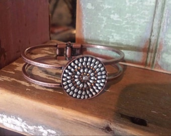 Recycled vintage zipper bracelet