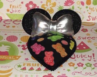 Gummie Bear Candy Minnie Ears Fascinator Hat