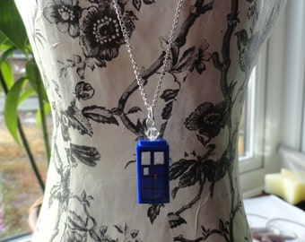 TARDIS Necklace and Earring set