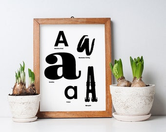 Art Print, Printable Art, Wall Art, Wall Art Prints, Wall Decor, Printable Wall Art, Typography Print, Digital Download, Black and White Art