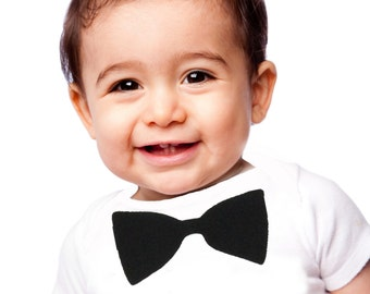 Baby onesie with bow tie
