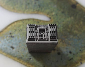 U.S. Army Corps of Engineers Insignia Antique Letterpress Printers Block Metal
