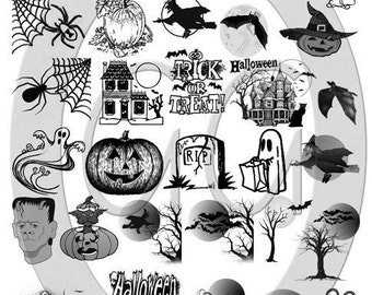 Sepia Decals for Fused Glass - Halloween Too