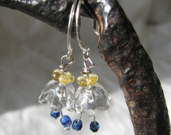 crystal bellflower earrings