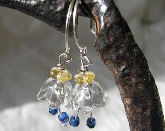 crystal bellflower earrings