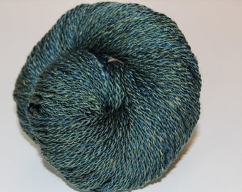 Handspun DK Weight Yarn, Merino Silk blend