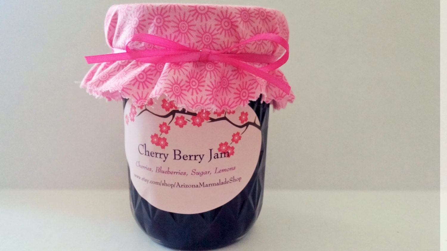 Cherry Berry Jam-4 or 8 0z Sizes / Birthday Gift For
