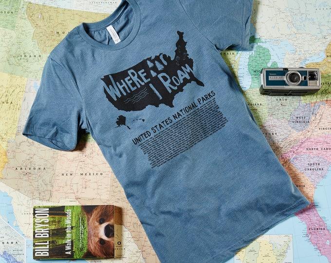 National Park Shirt US National Parks wilderness shirt hiking shirt outdoors gift trees outdoor life outdoor culture nature shirt tree shirt