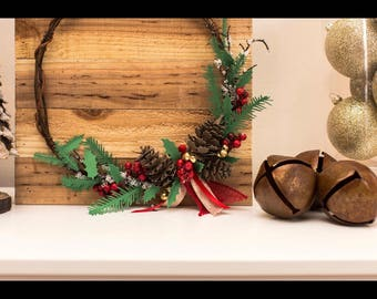 Pine Cone and Holy Paper Twig Wreath
