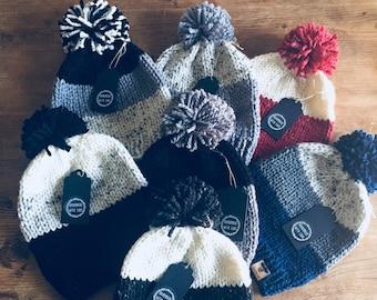 Toboggan Hat - Hand knit Hat