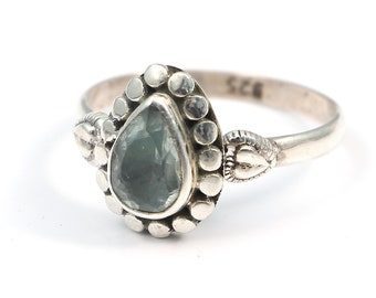 Florite 92.5 sterling silver ring size 7.5 us