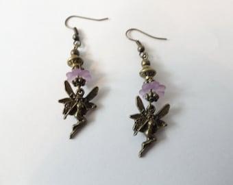 Fairy Earrings Flower Fairy Earrings Fairy Jewelry