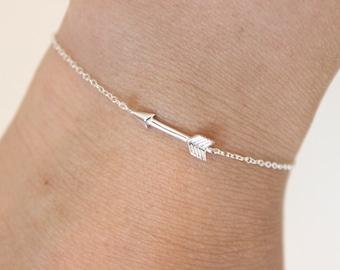 Sterling silver Arrow bracelet, dainty bracelet, delicate silver bracelet, simple bracelet, special gift, cute bracelet, charm bracelet