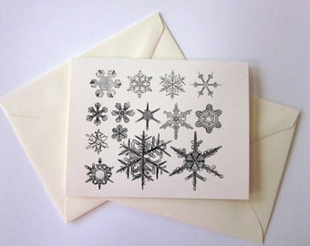 Snowflake Note Cards Set of 10 with Matching Envelopes