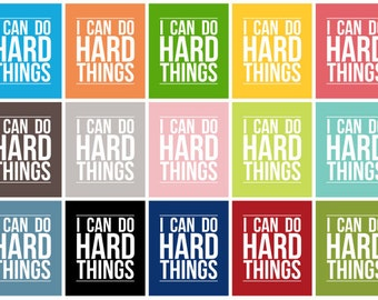 I Can Do Hard Things - Subway Art - Instant Download