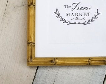 Lucky Bamboo Natural Wood Picture Frame with White Mat 8x10, 9x12, 11x14, 14x16, 16x20 Standard and custom sizes available.