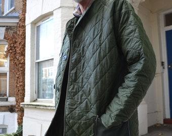 Dark Green Quilted Coat