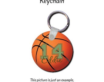 Basketball Gift, Team Gift, Basketball Coach Gift, Basketball Key Chain, Personalized Key Chain, Sports Key Chain, Keychain